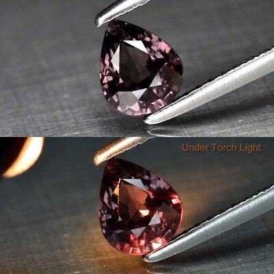 0.95ct 6.2x5.1mm Pear Natural Unheated Color Change Garnet, Africa