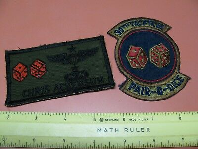 Older Usaf 90Th Tactical Fighter Squadron Patch & Name Patch (Semi Colored)