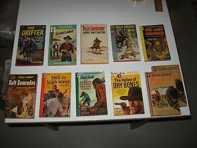 Good lot of 11 Vintage Western PB's - Zane Grey - Peter Field - Bliss Lomax ++