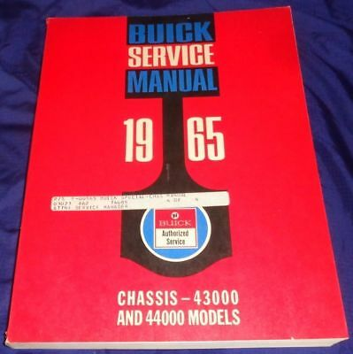 AM057 1965 Buick Chassis 43000 & 44000 Models Service Manual