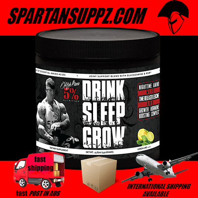5% Nutrition DRINK SLEEP GROW Aminos Recovery Rest Rich Piana 30 Serves Muscle