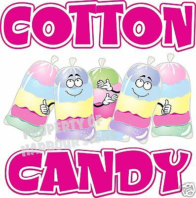 """Cotton Candy Decal 24"""" Fairy Floss Concession Trailer Food Truck Restaurant"""