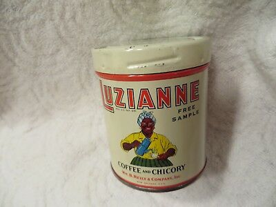 """Vintage Luzianne Coffee """"Free Sample"""" Tin Can"""