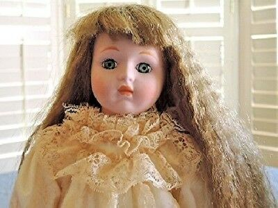 """Heritage Mint Ltd. Collection 1988-1989 Hand Made Bisque DOLL Blue Eyes 16"""""""