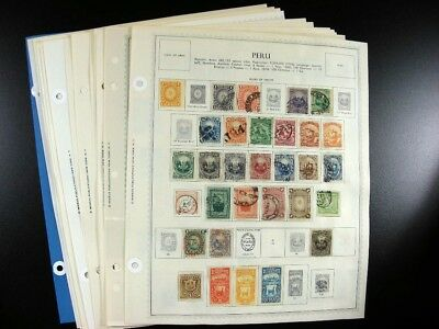 PERU 19th/20th Century stamps on Minkus pages  G871