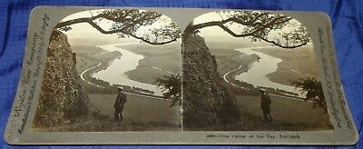 BG155 Vtg Stereoview Photo The Valley of the Tay Scotland