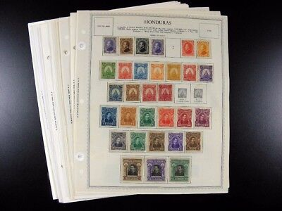 HONDURAS stamps 19th/20th century on Minkus pages G869