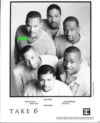 Press Photo: TAKE 6 8x10 B&W 1994