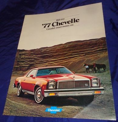 BG582 1977 77 Chevrolet Chev Chevy Chevelle Dealer Sales Brochure