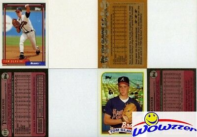Rare Lot of (7) Different Topps Tom Glavine ERROR CARDS from 1987-1992 FHOF