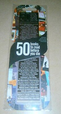 Etched Stainless Steel Bookmark - 50 Books To Read Before You Die