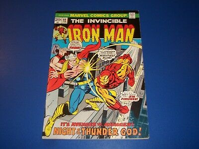 Iron Man #66 Bronze Age Thor vs Iron Man Fine- Wow