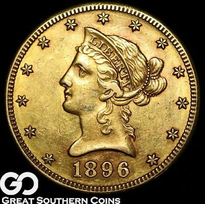 1896-S Eagle, $10 Gold Liberty, Nice Collector Gold ** Free Shipping!