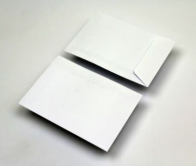 Plain WHITE  Gummed Envelopes | 102 x 108mm | Wages, School, Seeds X 5 ENVELOPE