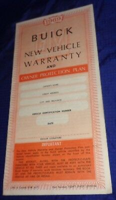 BH1064 1969 69 Buick New Vehicle Warranty Booklet