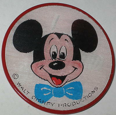 """1960's Mickey Mouse """"I Like Disneyland"""" Flasher Pin Vari-Vue WDP 3"""" - Red"""