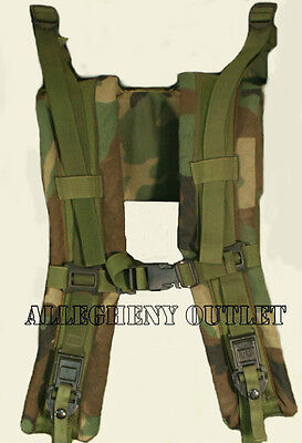 MOLLE US Army SDS Woodland Back Pack Frame Shoulder Straps w Quick Release EXC