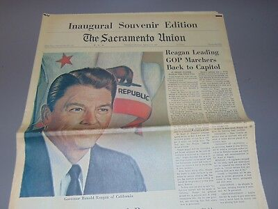 Jan. 5, 1967 Sacramento Newspaper: Ronald Reagan Ca Governor Inaugural Edition