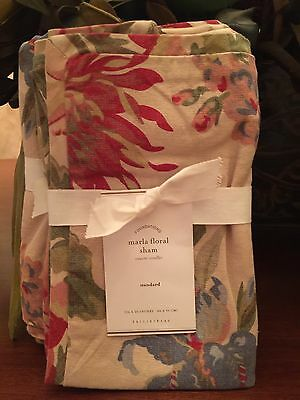 Pottery Barn MARLA FLORAL PRINT , King, , set of Two New W/$59.50,Each