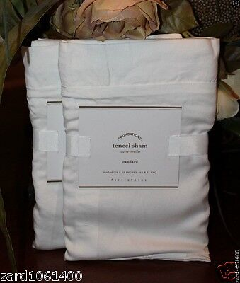 Pottery Barn TENCEL, Standard,  SHAM set of Two New W/$49.50, Each.Total $99.00