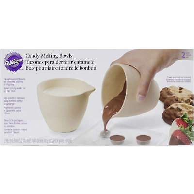 "Ceramic Candy Melting Cups & Bowls 4""X3.5"" 2/Pkg 070896140760"
