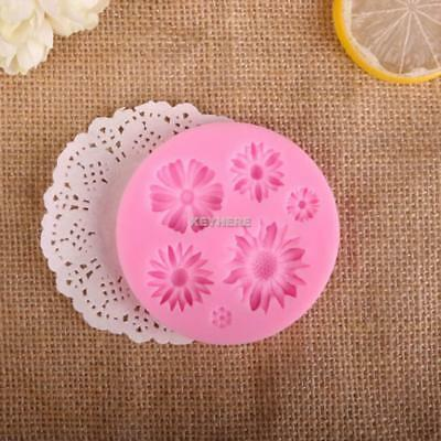 New 1PC Silicone 3D Floral Round Cake, Candy & Pastry Tools Chocolate K0E1 01