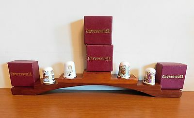 Four Caverswall Fine Bone China Thimbles.   Royalty   (9)