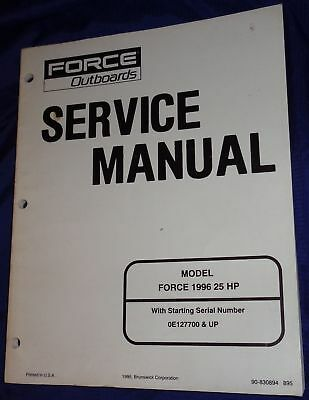 BS522 Force Outboards Models 1996 25HP Service Manual