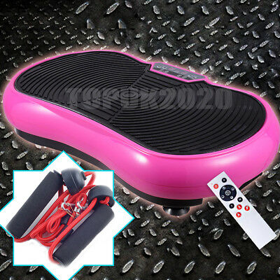 Fitness Machine Massage Vibration Plate Pink Crazy Exercise Home Gym