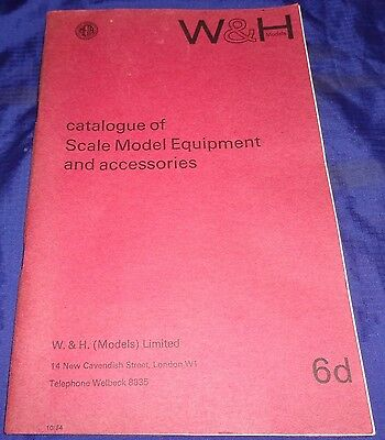 DE031 Vtg W & H Models Scale Model Equipment Catalog Railway Train Romford