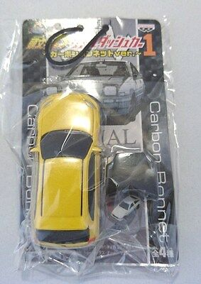 "INITIAL D Japanese Anime ""Real Dash car w/carbon bonnet(Yellow)"
