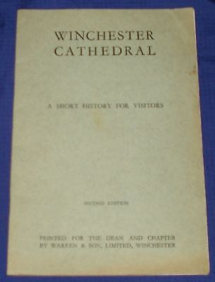 KM451 Vtg Winchester Cathedral Travel Guide 1927