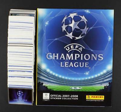 Champions League 2007 Panini Leeralbum Sticker 1 - 552 komplett ungeklebt