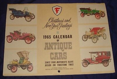 MH044 Vtg Firestone Texaco 1965 Wall Calendar Toronto ON