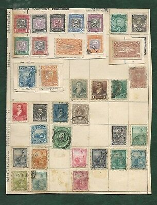 Latin America collection of old mainly used stamps on 11 album pages Peru Mexico