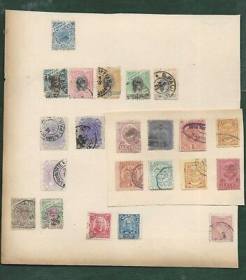 Austria Argentina Brazil MH and used old stamps on album pages