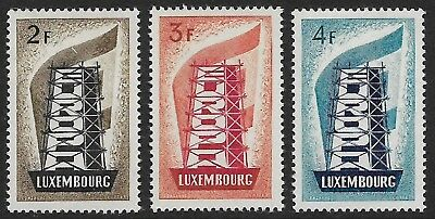 LUXEMBOURG 1956 Europa Set of 3 SG 609-611 MH/* (Cat £650)