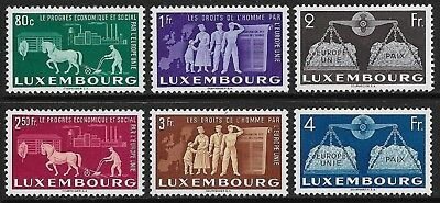 LUXEMBOURG 1951 United Europe Set of 6 SG 543-548 MH/* (Cat £400)