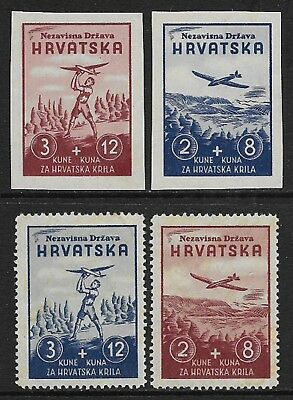 CROATIA Air Stamps Selection MH/*