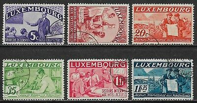 LUXEMBOURG 1935 Intellectuals Selection Used (Cat £110)