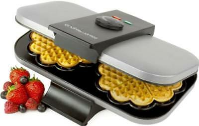 Andrew James 2 Slice Waffle Maker Machine Electric Non Stick Iron 1300W