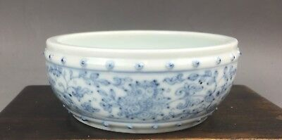 A very rare/fine Chinese 18C blue&white marked small censer-Yongzheng