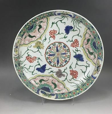 A rare/beautiful Chinese 18C famille verte charger-Kangxi