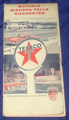 ML014 Vtg Texaco Buffalo Niagara Falls Rochester NY Road Map
