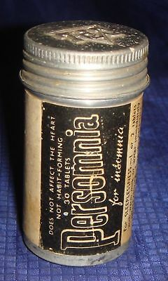 ML164 Vtg Persomnia For Insomnia Tin Container
