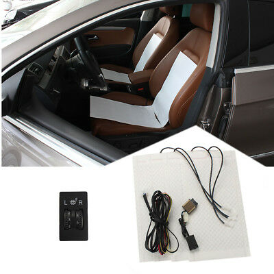 Carbon Fiber 5 Level Dual Switch Heated Seat Kit for Universal Heater 2 seats