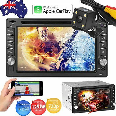 "6.2"" 2 Din Apple CarPlay Car Stereo DVD MP3 Player Touch Screen BT FM Radio USB"