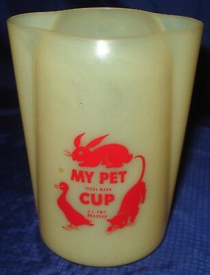 NM019 Vtg My Pet Milk 8 Oz Plastic Measuring Cup Ad