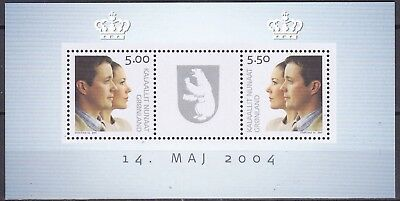 Greenland 2004 Royal Wedding S/s (9) Mint Never Hinged