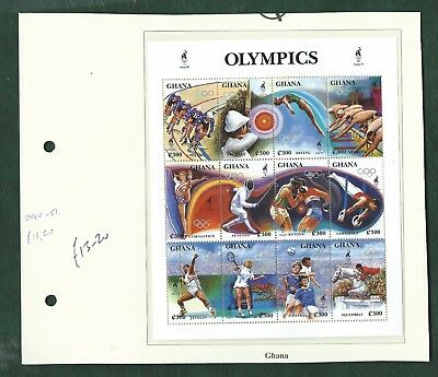 Ghana lovely lot of unmounted mint Olympic Games sets & minisheets MNH 7 scans